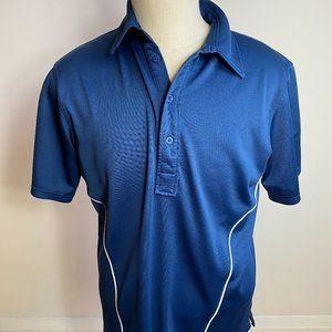 J.Lindeberg Top blue polo shirt sz LARGE Mens golf